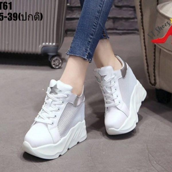 รองเท้าผ้าใบผู้หญิง แฟชั่นเสริมส้น