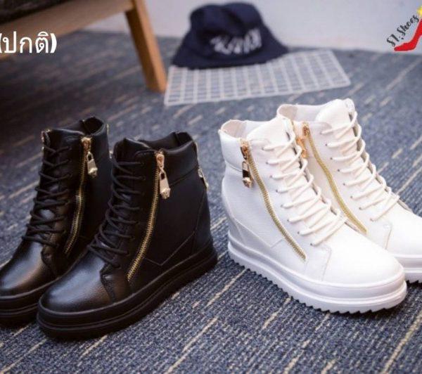 รองเท้าผ้าใบหุ้มข้อแฟชั่นเกาหลี