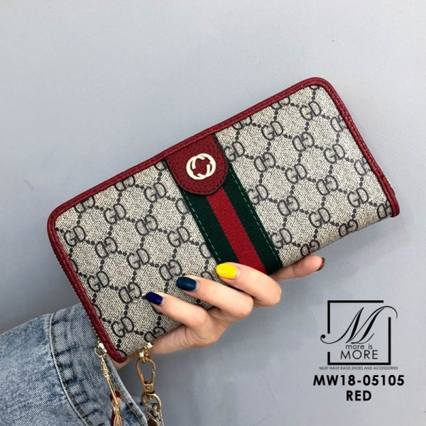 กระเป๋าสตางค์ใบยาวgucci สีแดง