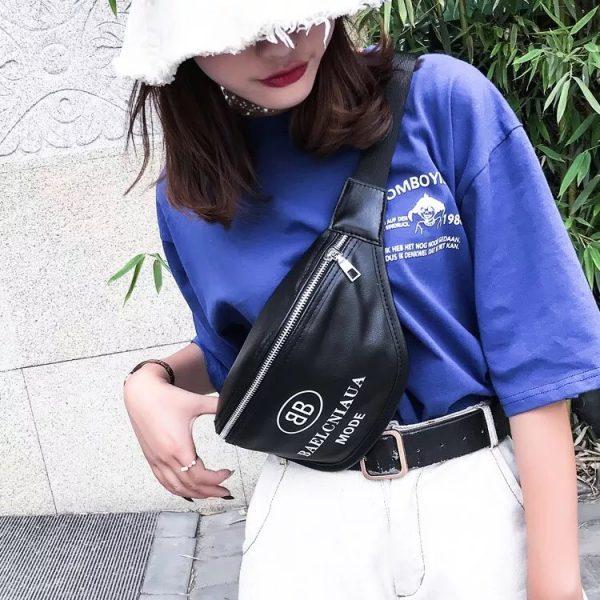 กระเป๋าคาดอก หนังpu