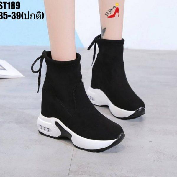รองเท้าผ้าใบถุงเท้า
