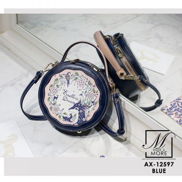 กระเป๋าแฟชั่นงานนำเข้าทรงกลมน่ารักแบรนด์ Axixi แท้