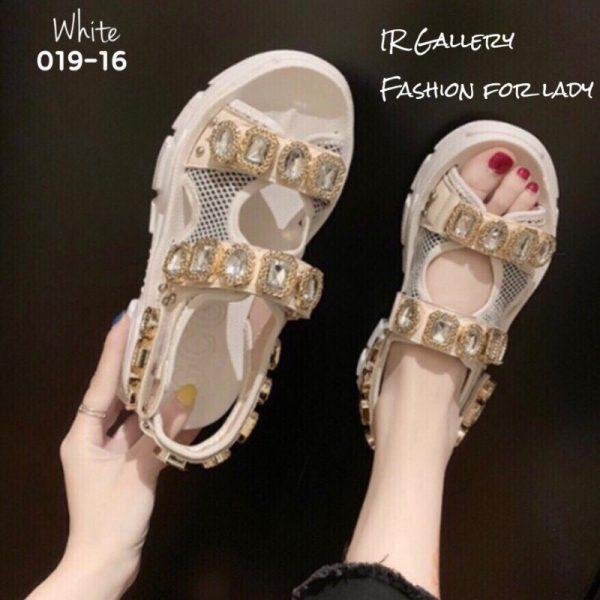 รองเท้าลำลองแบบสวม สไตล์เกาหลีรัดส้น