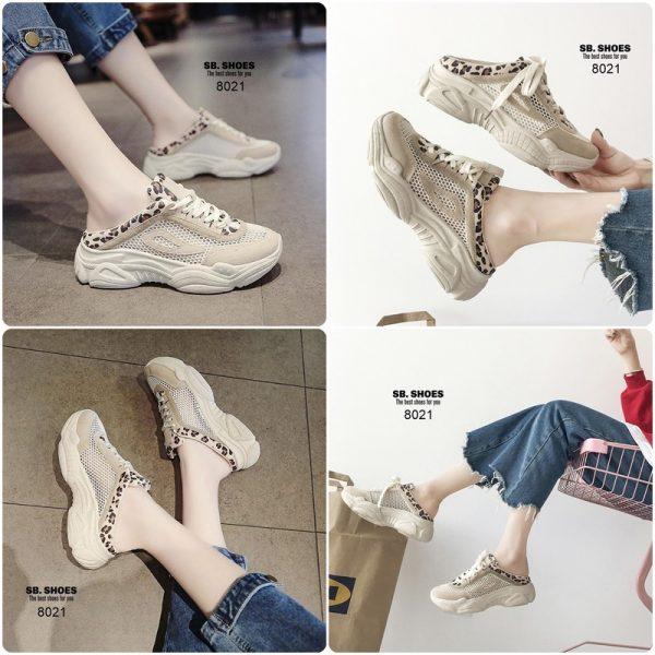 รองเท้าผ้าใบเปิดส้นงานสไตล์เกาหลี