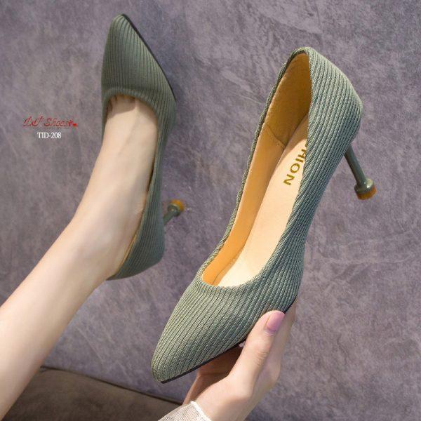รองเท้าคัชชูส้นสูงหัวแหลม2019