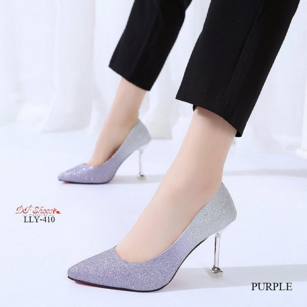 รองเท้าคัชชูส้นสูงหัวแหลมแบบสวม2020