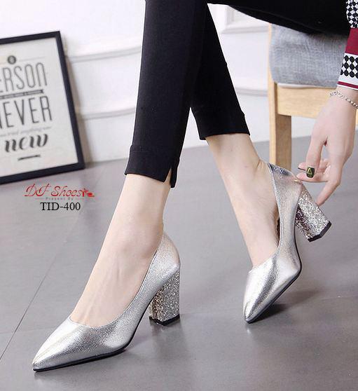 รองเท้าคัชชูส้นสูงหัวแหลม2020