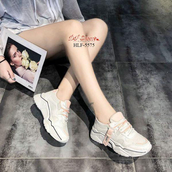 รองเท้าผ้าใบแฟชั่นนำเข้า วัสดุผ้าไนล่อนและหนัง PU ใส่สบาย น้ำหนักเบา