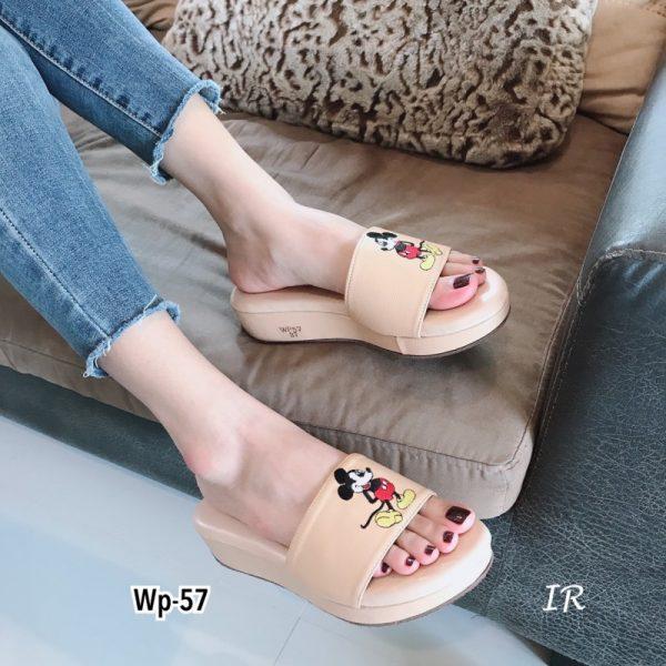 รองเท้าลำลองหนังนิ่ม พื้นบุเสริมนวมนิ่มหนา 1.5 นิ้ว