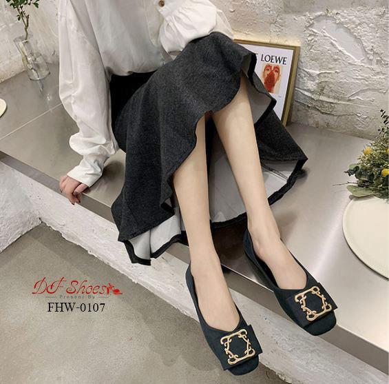 รองเท้าคัชชูส้นเตี้ยแบบสวม คัชชูรองเท้าคัชชูส้นเตี้ยแบบสวม คัชชู