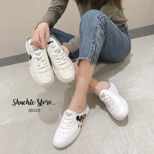 รองเท้าสลิปเปอร์สกีนลายน้องมิ๊กกี้น่ารัก