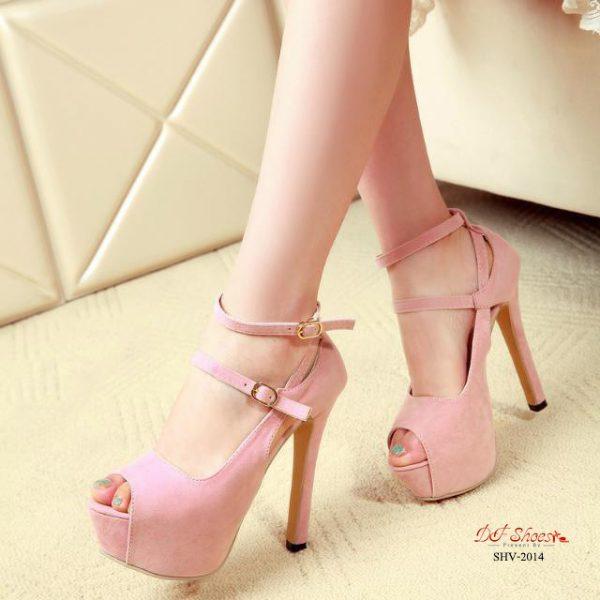 รองเท้าส้นสูงรัดข้อนำเข้าผู้หญิง