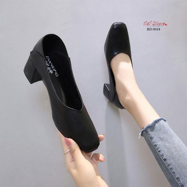 รองเท้าคัชูผู้หญิงสีดำ นิ่มใส่สบาย
