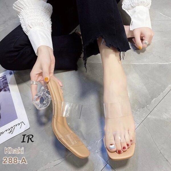 รองเท้าส้นสูง ส้นแก้ว