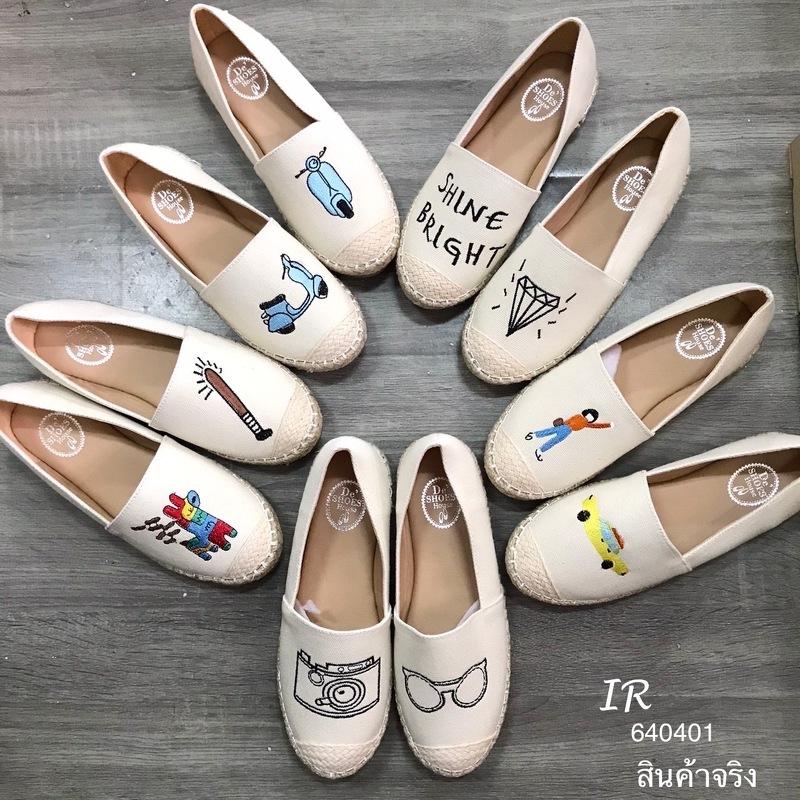 รองเท้าลำลองแคนวาสงานปักน่ารักมากๆ